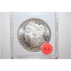 1880-S Silver Morgan $1; MCPCG Graded MS64; EST. $120-200