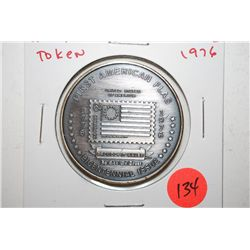 1976 U.S.P.S. Bicentennial Issue First American Flag Token; EST. $3-5