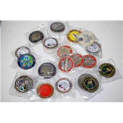 Military Challenge Medal; Various Dates, Bases, Etc.; Lot of 20; EST. $100-200