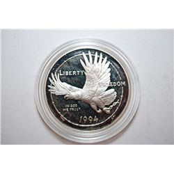 1994-P US Prisoner Of War Silver Dollar Proof; 90% Silver .76 Oz.; EST. $65-75