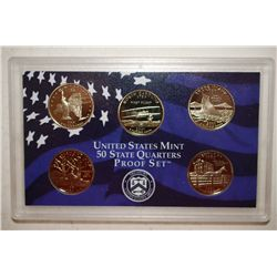 2001 US Mint State Quarter Proof Set; EST. $6-10