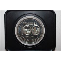 "1974 Canada $1 ""100th Anniversary Winnipeg"" Foreign Coin; EST. $3-6"