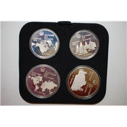 1976 Canada Olympic Coin Proof Set In Wooden Display Box; Lot of 4; EST. $80-100