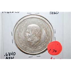 1952 Mexico Cinco Pesos Foreign Coin; EF40; .6340 ASW 0.720 Ley; EST. $25-40