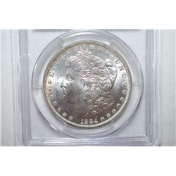 1884-O Silver Morgan $1; PCGS Graded MS63; EST. $60-80