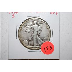 1936-S Walking Liberty Half Dollar; EST. $10-20
