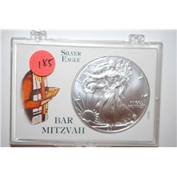 2011 Silver Eagle $1 In Bar Mitzvah Holder; EST. $35-40