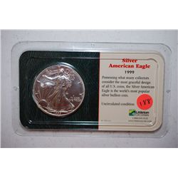 1999 Silver Eagle $1 With History; EST. $35-50
