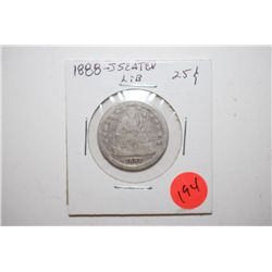 1888-S Seated Liberty Quarter; EST. $15-25