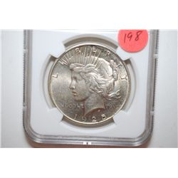 1925 Peace $1; NGC Graded MS61; EST. $50-70