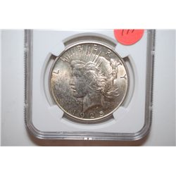 1925 Peace $1; NGC Graded UNC Details-Improperly Cleaned; EST. $50-70