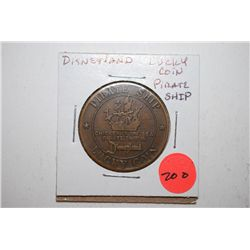 Disneyland Chicken Of The Sea Pirate Ship Lucky Coin; EST. $5-10