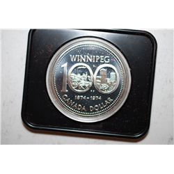 "1974 Canada $1 ""100th Anniversary Winnipeg"" Foreign Coin; EST. $15-20"