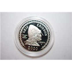 2000-P Leif Ericson Commemorative $1 Proof; EST. $35-45