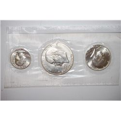 1976-S US Bicentennial Silver Three-Coin Set; UNC; EST. $25-30