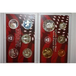 2000-S US Mint Silver Proof Set With State Quarter Mint Silver Proof Set; EST. $38-43