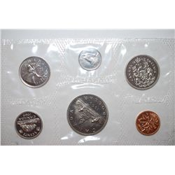 1963 Canada Mint Foreign Coin Set; UNC; Royal Canadian Mint; EST. $5-10