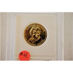 2008 US Presidential Andrew Jackson $1; Pure 24K Gold Enriched; EST. $5-10