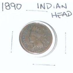 1890 INDIAN HEAD PENNY *NICE PENNY-PLEASE LOOK AT PICTURE TO DETERMINE GRADE*!!
