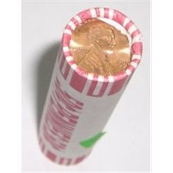 ROLL OF 1990-D *RARE BU BRILLIANT UNCIRCULATED* LINCOLN PENNIES *RARE BU HIGH GRADE* ROLL OUT OF SAF