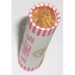 ROLL OF MIXED *UNSEARCHED* LINCOLN PENNIES - ROLL OUT OF SAFE!