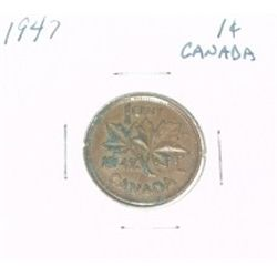 1947 CANADIAN 1 CENT PENNY *PLEASE LOOK AT PICTIRE TO DETERMINE GRADE*!!