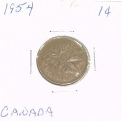 1954 CANADIAN 1 CENT PENNY *PLEASE LOOK AT PICTIRE TO DETERMINE GRADE*!!