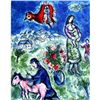 Chagall &quot;Sur La Route De Village&quot; Ltd Edition Litho, W/COA, 32&quot;x23&quot;