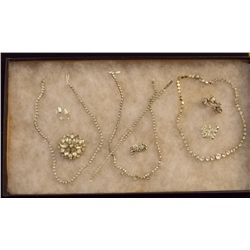Lot of Necklaces, Earrings, Bracelets, and Brooche Vintage Costume Jewelry Lot of Necklaces, Ear Rin