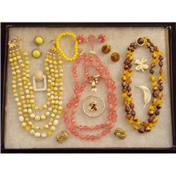 Lot of Necklaces, Earrings, Bracelets and Brooches Vintage Costume Jewelry Lot of Necklaces, Bracele