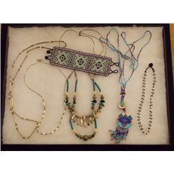 Lot of Necklaces, and Bracelets with Mother of Pea Vintage Costume Jewelry Lot of Necklaces, and Bra