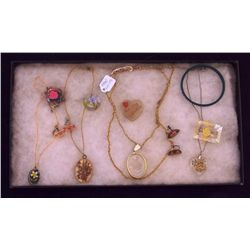 Lot of Necklaces, Earrings, Bracelets, and Brooche Vintage Costume Jewelry Lot of Necklaces, Earring