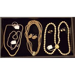 Lot of Necklaces and Earrings including Signed Ste Vintage Costume Jewelry Lot of  Necklaces and Ear