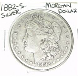 1882-S MORGAN SILVER DOLLAR *NICE SILVER DOLLAR -  COIN CAME OUT OF SAFE!!