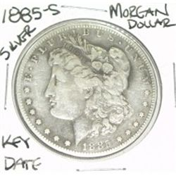 1885-S MORGAN SILVER DOLLAR *EXTREMELY RARE KEY DATE - NICE SILVER DOLLAR* COIN CAME OUT OF SAFE!!