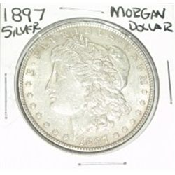 1897 MORGAN SILVER DOLLAR *NICE SILVER DOLLAR* COIN CAME OUT OF SAFE!!!