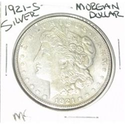1921-S MORGAN SILVER DOLLAR *RARE MS HIGH GRADE - NICE SILVER DOLLAR* COIN CAME OUT OF SAFE!!!