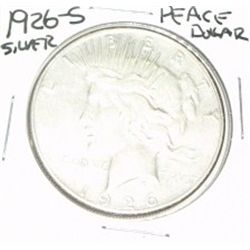 1926-S PEACE SILVER DOLLAR *NICE SILVER DOLLAR - PLEASE LOOK AT PICTURE TO DETERMINE GRADE* COIN CAM
