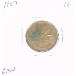 1951 CANADIAN 1 CENT PENNY *PLEASE LOOK AT PICTIRE TO DETERMINE GRADE*!!