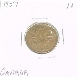 1957 CANADIAN 1 CENT PENNY *PLEASE LOOK AT PICTIRE TO DETERMINE GRADE*!!