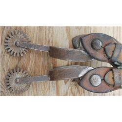 Iron straight shank spurs