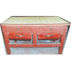 Antique bin table