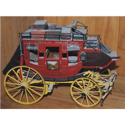 Die cast Wells Fargo stage coach