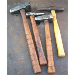 4 blacksmith hammers