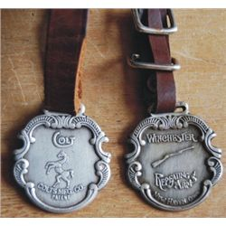 Colt & winchester watch fobs