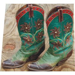 fancy inlaid 40's custom made boots