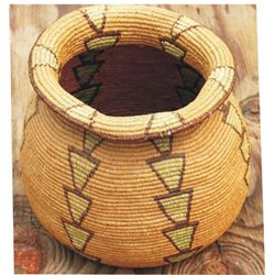 "Geometric basket, 11"" diameter, early Alasken"