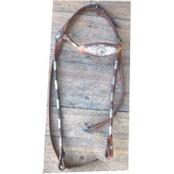 nice silver mounted brow band headstall
