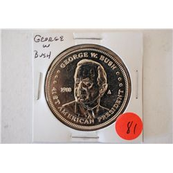 1988-A Double Eagle Presidential Commemorative Medal; George W Bush 41st President; EST. $3-6