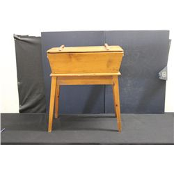"NICE PINE DOUGH BOX - 26"" X 33"""